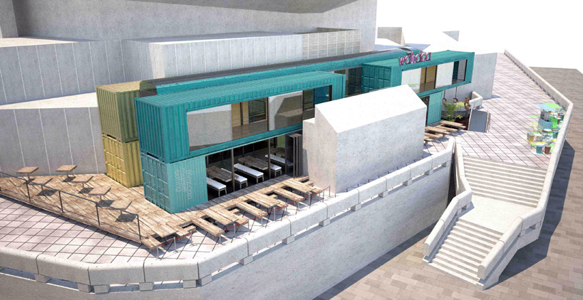 Container transforme containers amenages - Wahaca shipping container restaurant ...